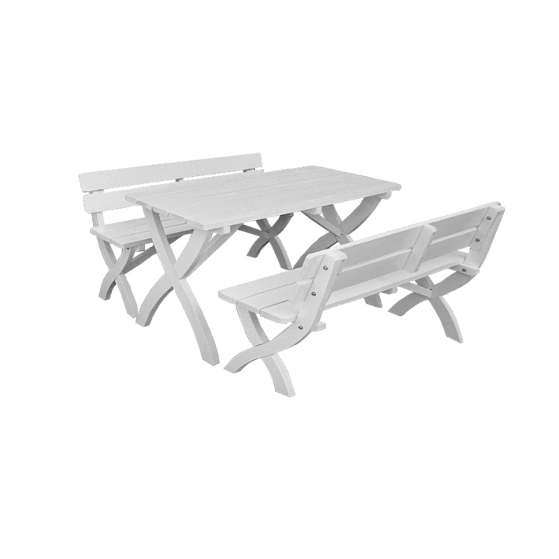 Stainless Steel Bathroom Vanity Cabinet, Picnic Table Set 3pcs White Garden Benches