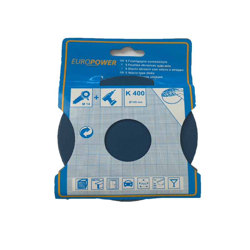 Europower 125mm Sanding - Abrasive Disc K400 5pcs