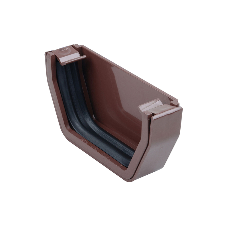 Osma 811B Stopend Brown Guttering