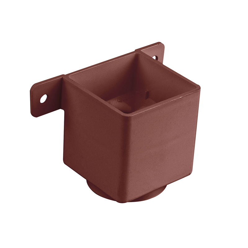 Osma 823B Pipe Connector & Bracket Brown Guttering