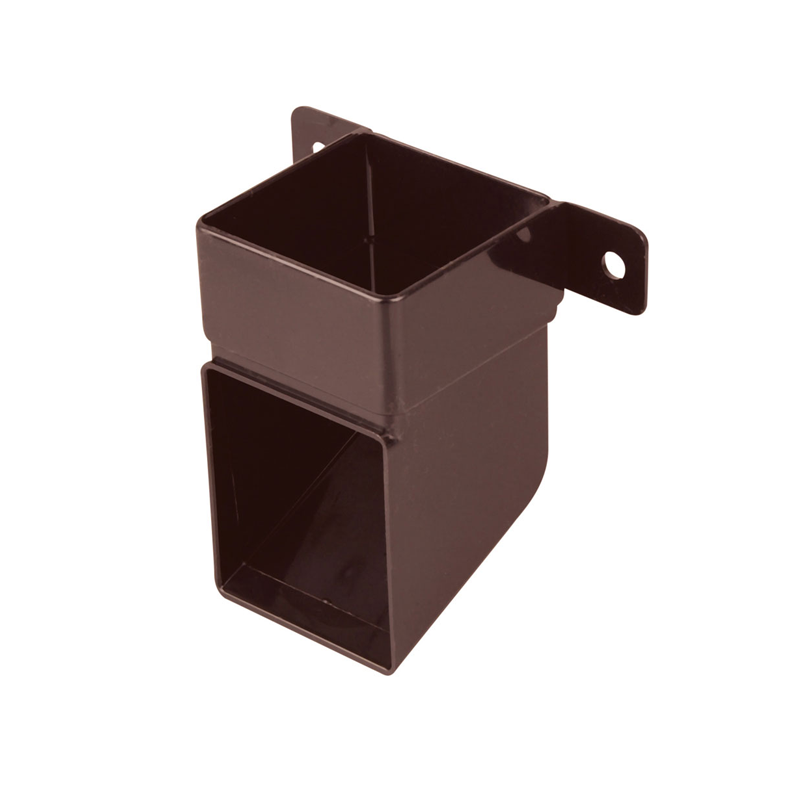 Osma 832B Pipe Shoe & Bracket Brown Guttering