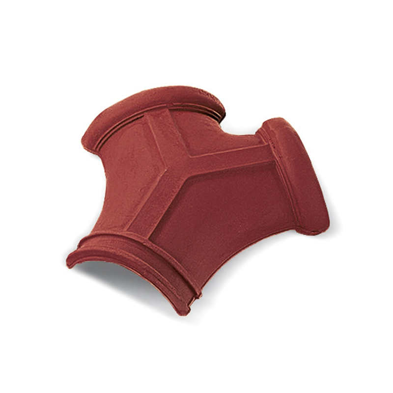 Traditional Three-Way Dark-Red Italian Roof Tile
