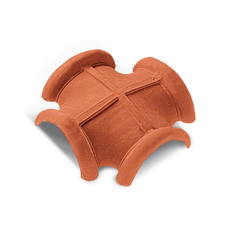 Traditional Four-Way Red Italian Roof Tile