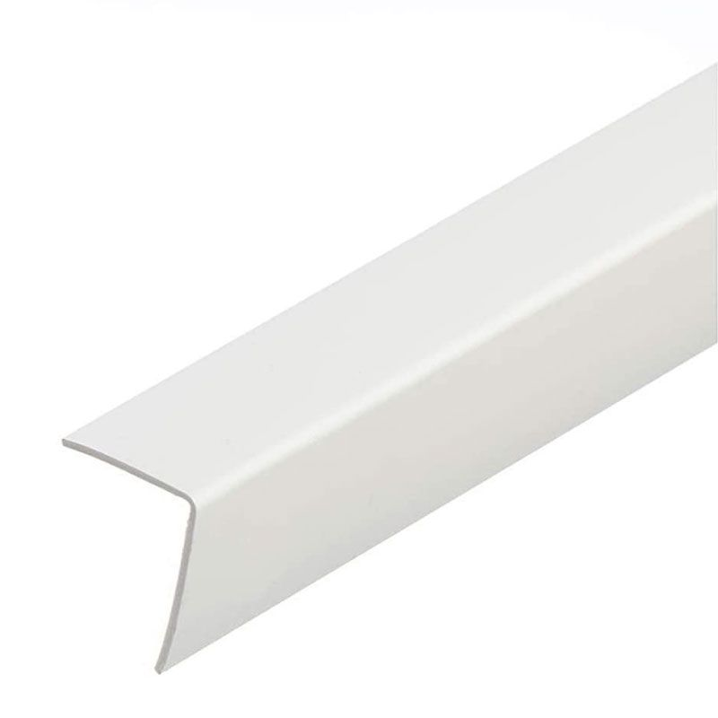 Wall Edge 25x25mmx3m White PVC Plastic Profile