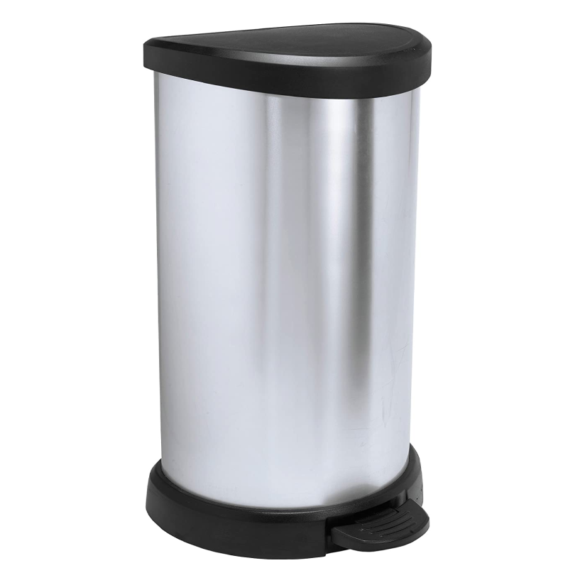 Curver 40L Metallic Kitchen Bin
