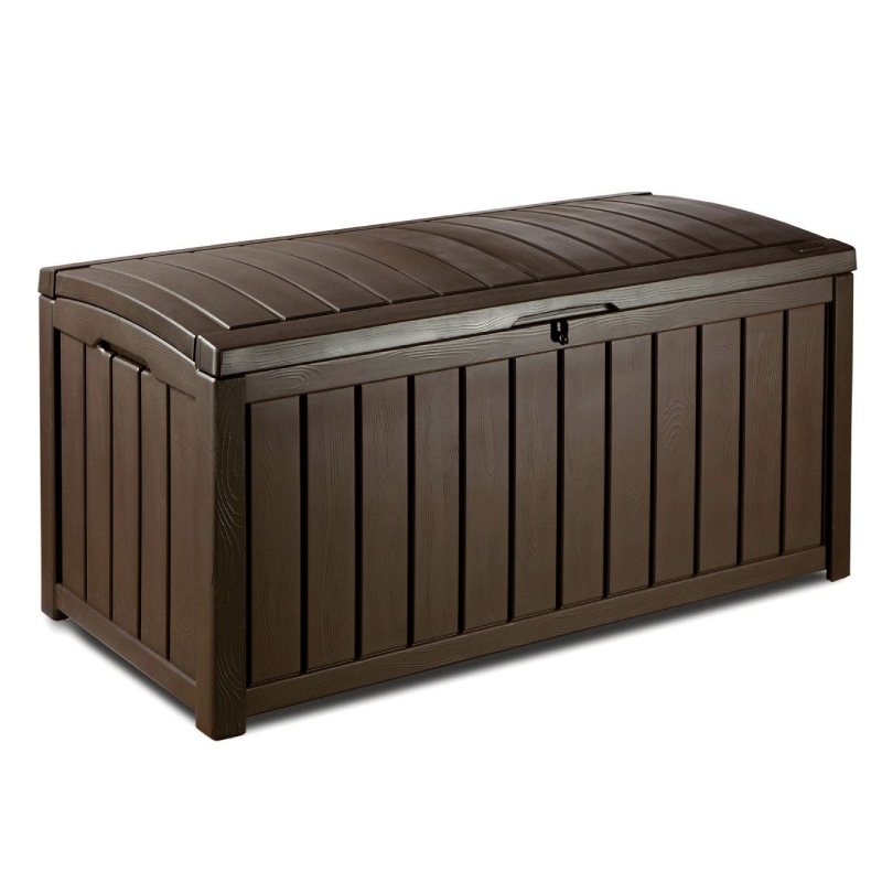 Keter Glenwood 390L Brown Plastic Storage Box