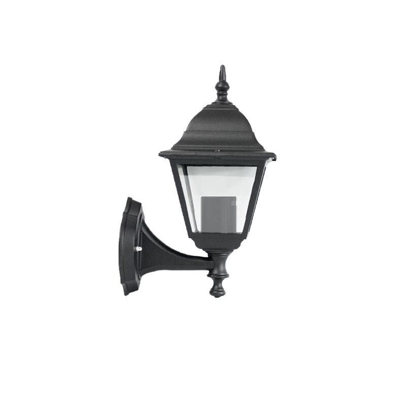 Valencia E27 60W Aluminium Black Outdoor Wall Light