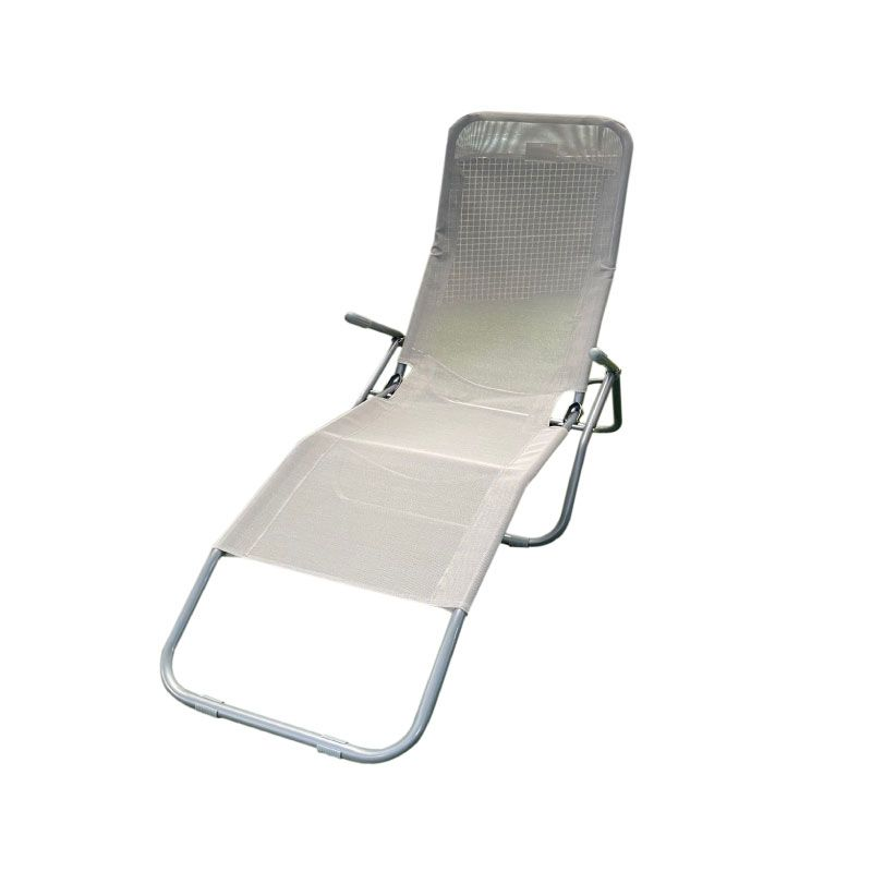 Vita Grey Folding Garden Chair