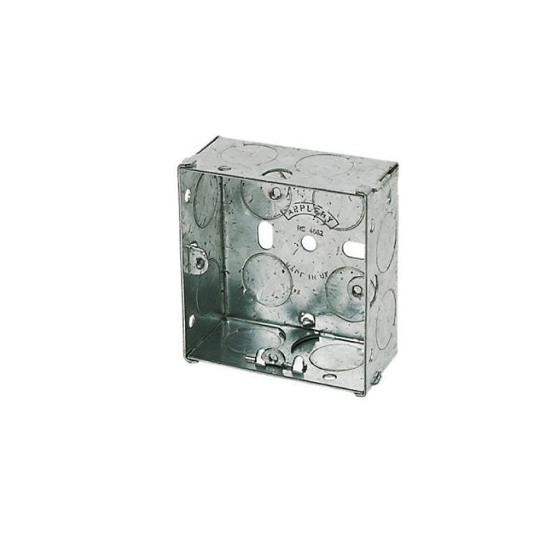 Knockout Wall Back Box Steel 1-Gang