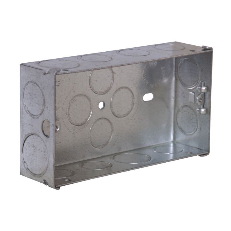 Knockout Wall Back Box Steel 2-Gang