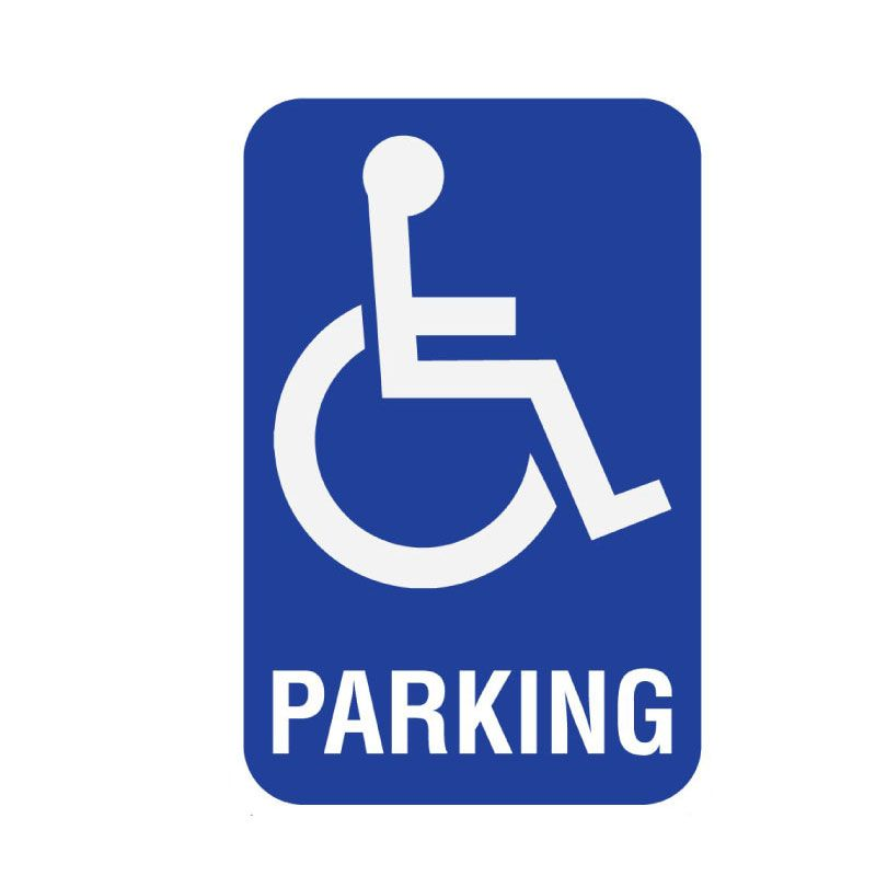 Parking Area Disabled Info Sign 200x300mm