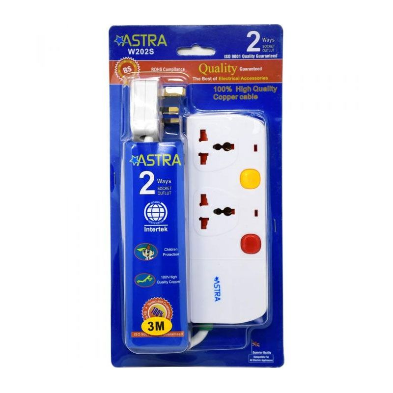 Astra 2W/3m Extension Lead