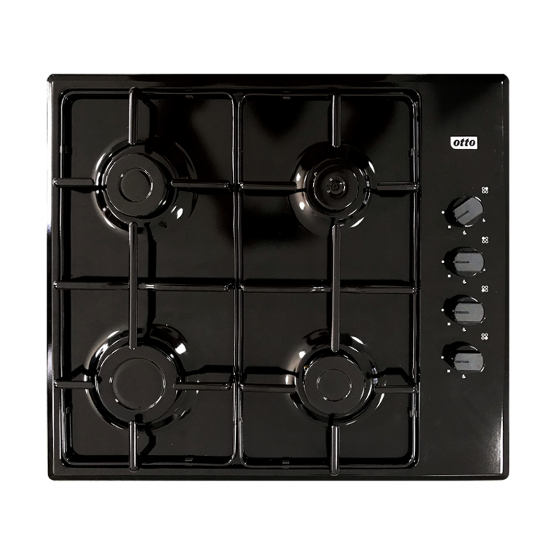 Otto 4 Burner Gas Hob Black (GH1950BL)