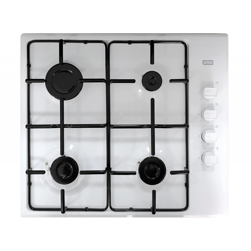 Otto 4 Burner Gas Hob White (GH1950WH)