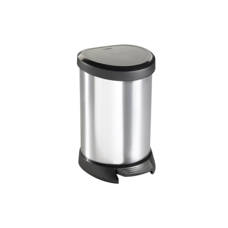 Curver 5L Metallic Kitchen Bin