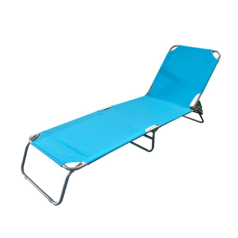Vita Steel Fabric Foldable Blue Sunbed
