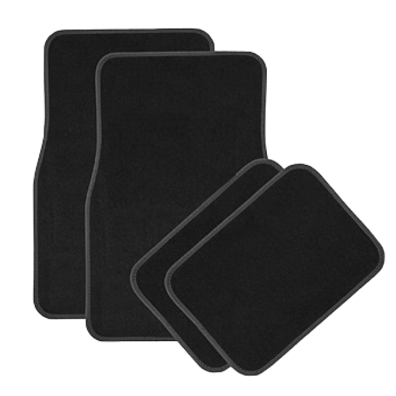 Kinzo 4pcs Set Black Car Mats