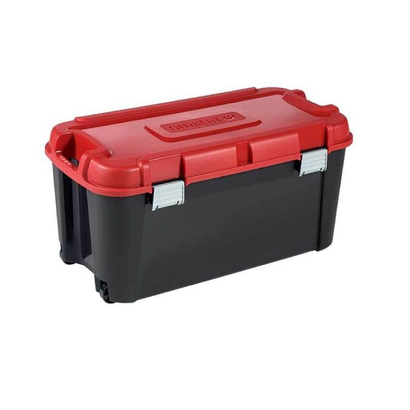 Albert 80Ltr Heavy Duty Storage Box On Wheels 80 X 40 X 37cm