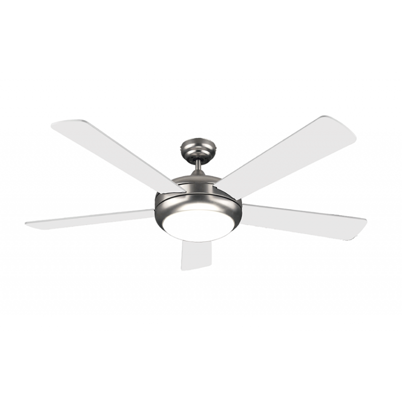 "Matestar MAT-52055 52"" White / Silver Ceiling Fan + Lamp"