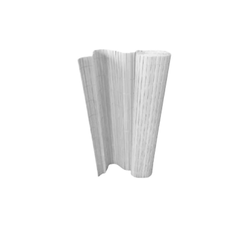 H&C Double Face Bamboo Fence White 100x300cm PVC Fence