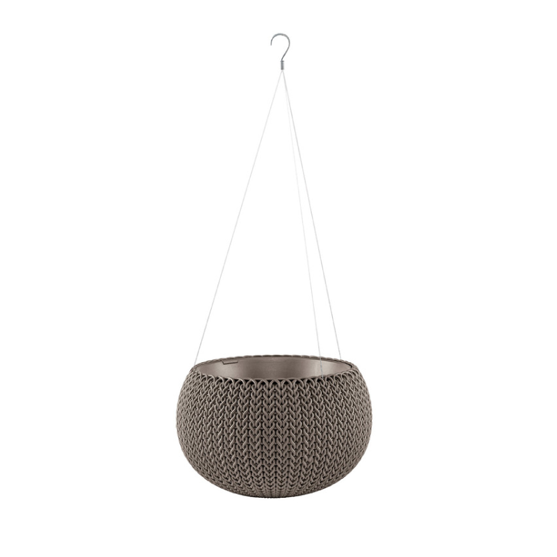 Keter XSmall Harvest Brown Rattan Cozy Flower Pot