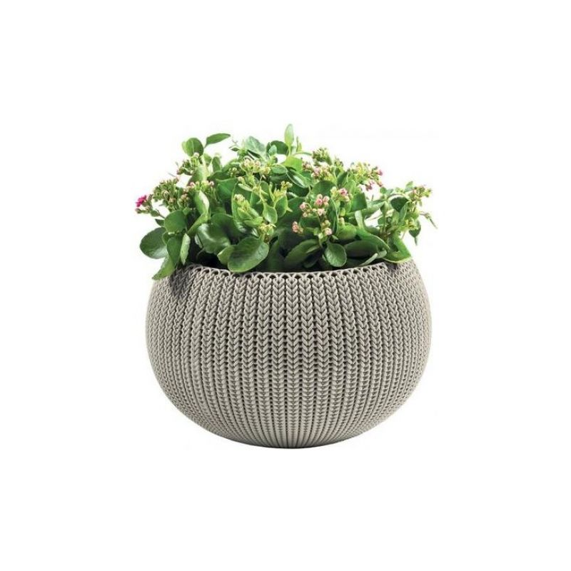 Keter Medium Camel/ Beige Rattan Cozy Flower Pot