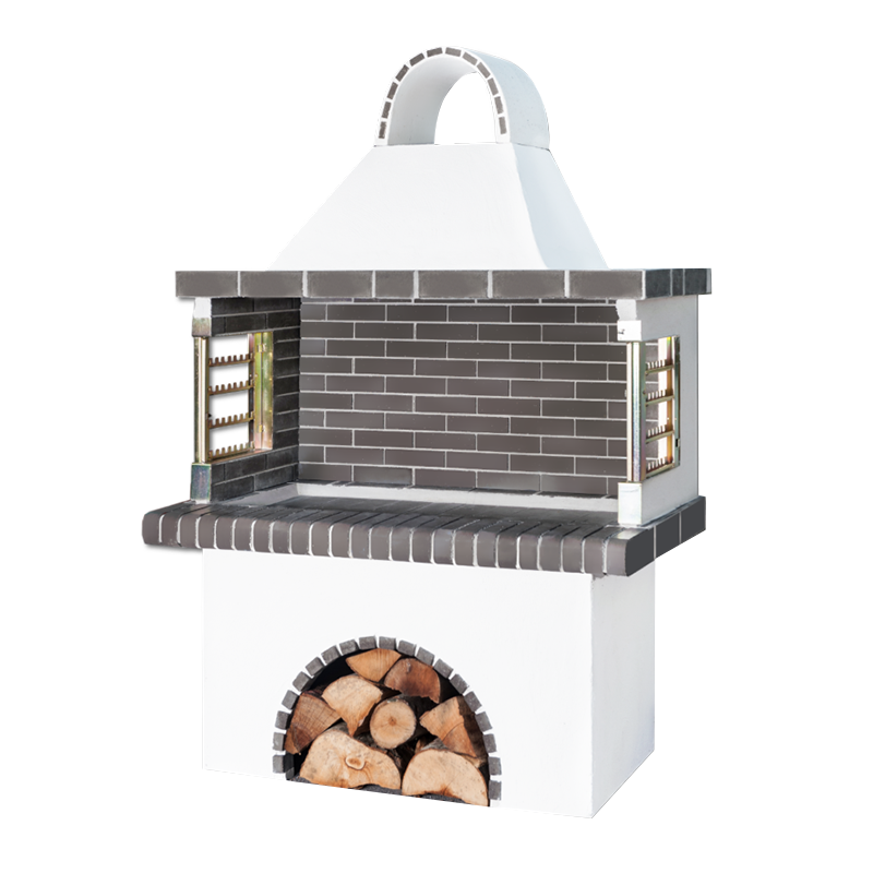 Greek Black - Grey Large Firebrick BBQ