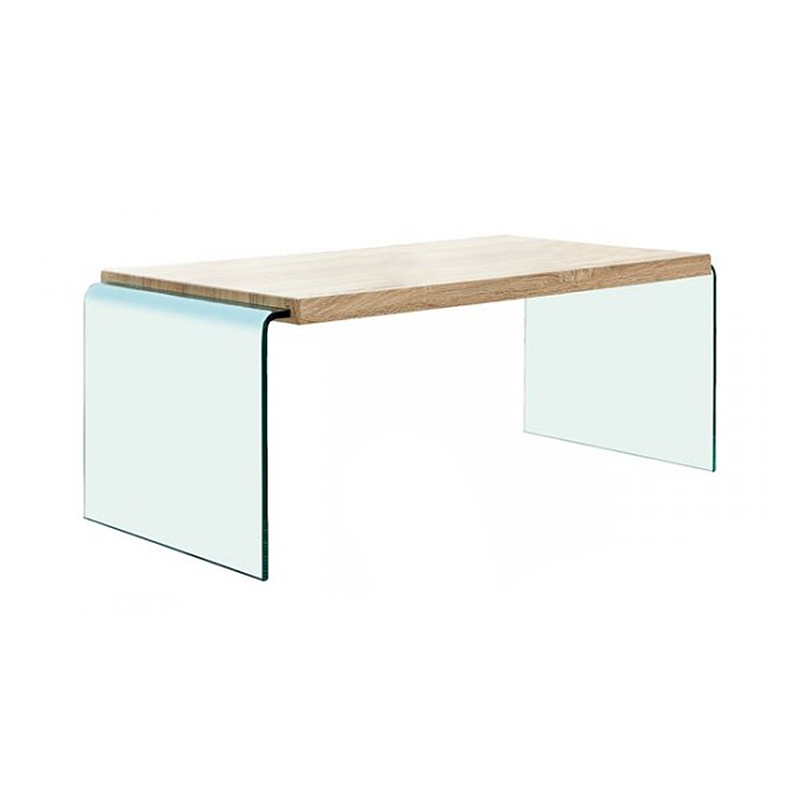 Sonoma ΗΜ8096 Wood Glass 110x55x40cm Coffee Table