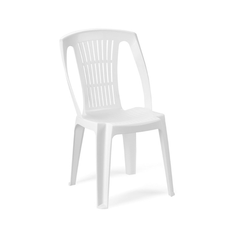 Pro Garden Stella White Plastic Without Arms Garden Chair