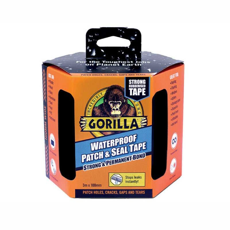 Gorilla 3m Waterproof Black Patch & Seal Tape