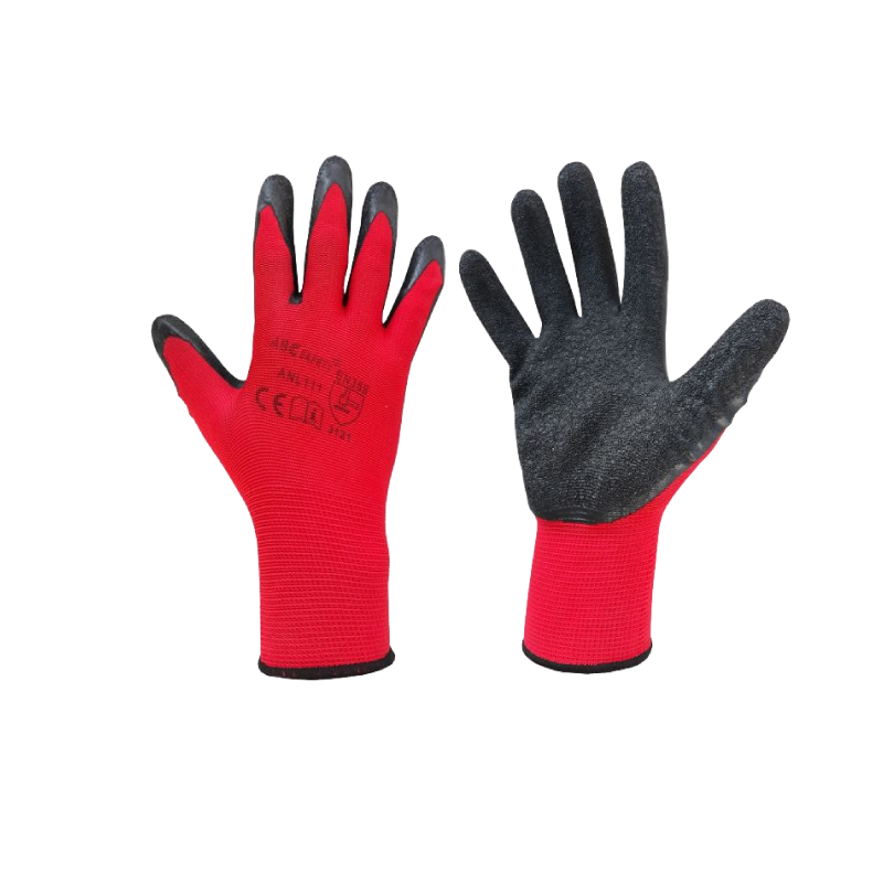 Latex Red & Black Workwear Gloves XXL