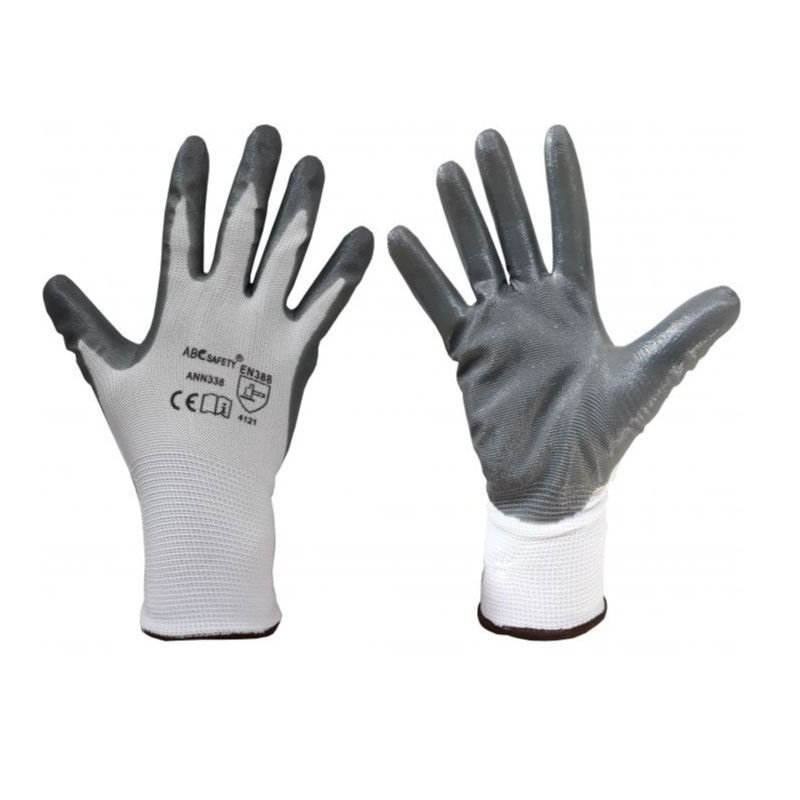 C&K Grey Nitrile Workwear Gloves XXL
