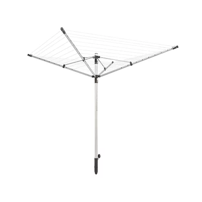 Leifheit Aluminum Linopush 4-Arms 50m Rotary Clothes Dryer