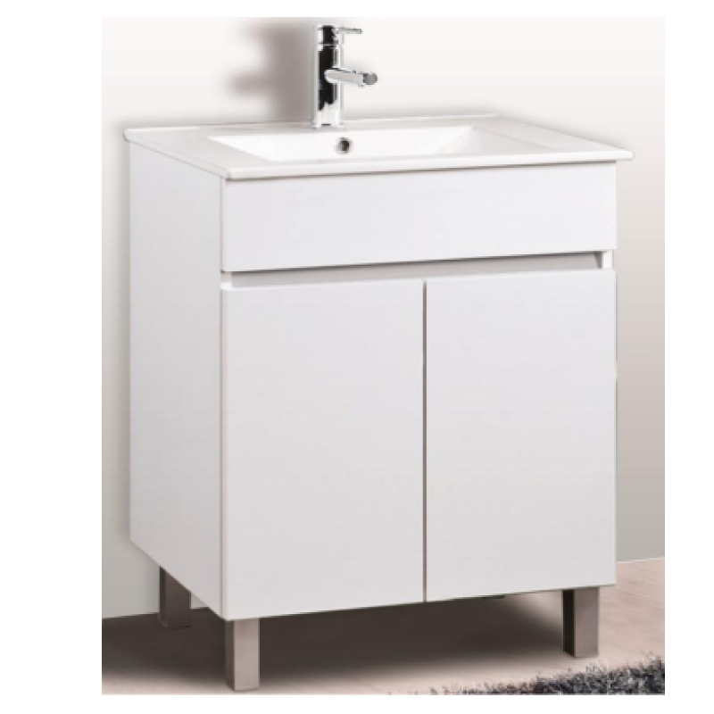 BM Luup 60cm White Basin Cabinet Set Bathroom Furniture