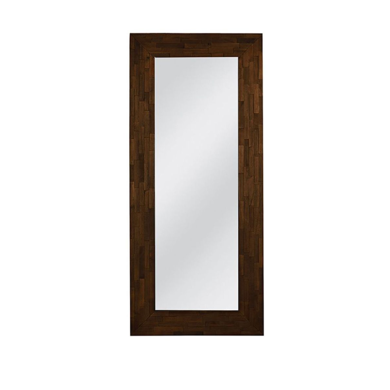 Woody 80x6x180cm Brown Paulownia Wood Wall Mirror