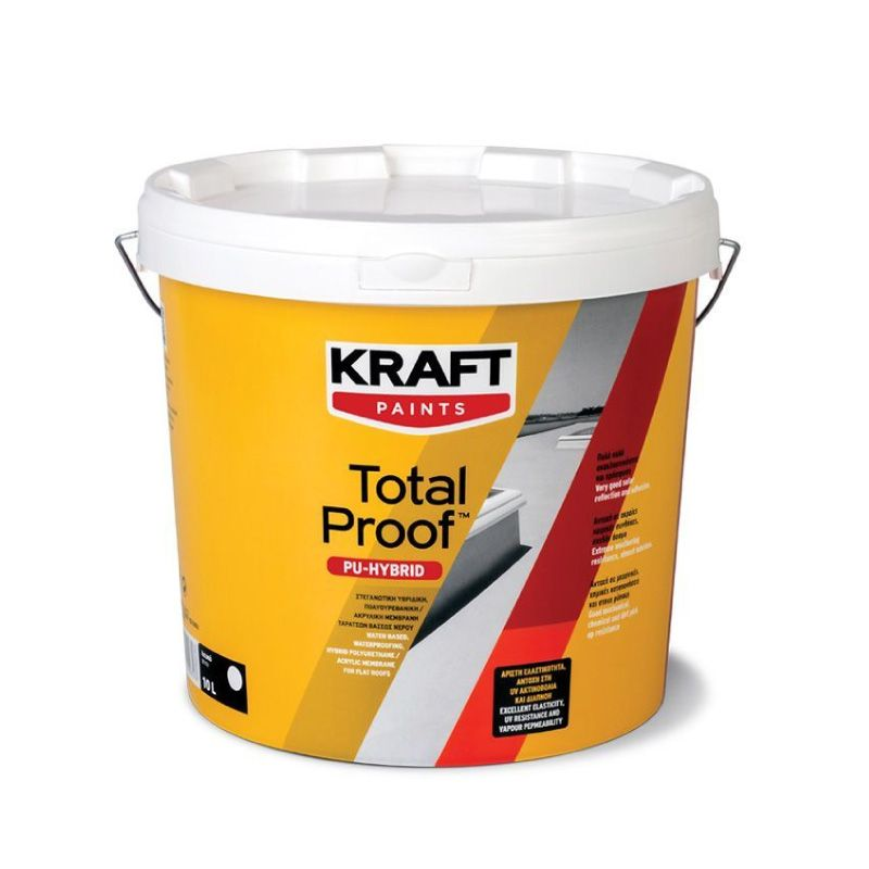 Kraft Total Proof PU Hybrid Damp Proof Paint White 10L