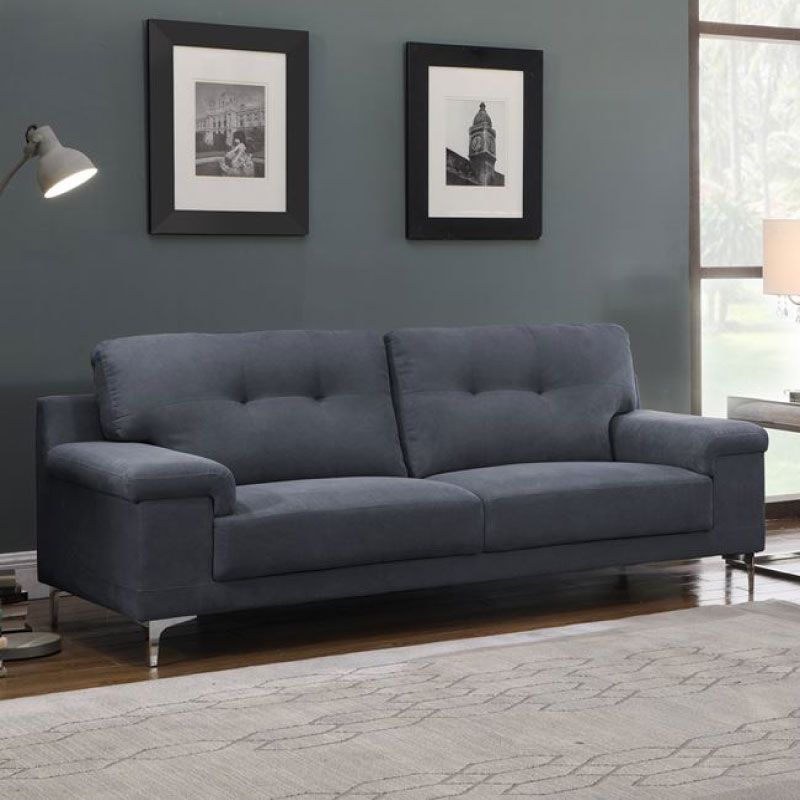Note E-00021080 Blue Grey 3 Seater Sofa