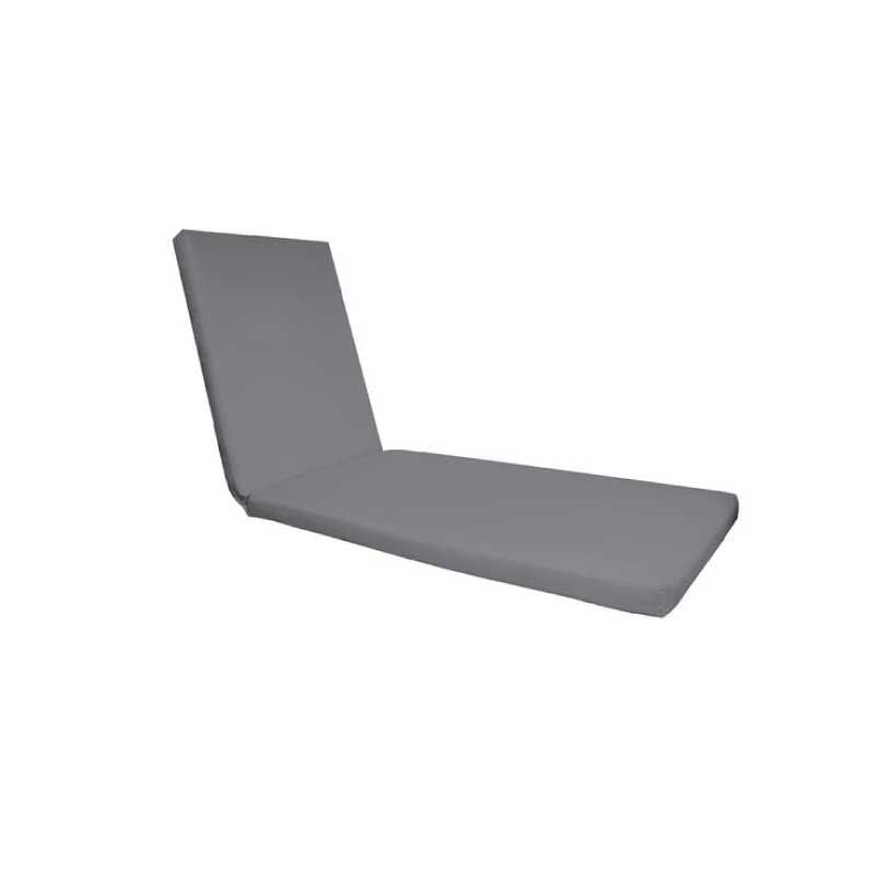 Sunlounger Grey Fabric Outdoor Cushion