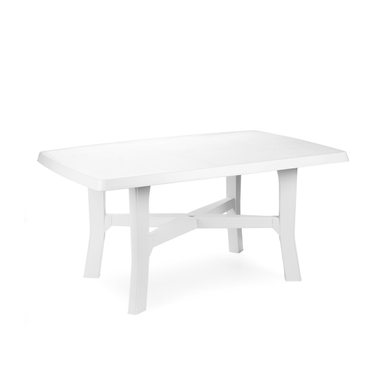 Pro Garden Rodano White Plastic Rectangular Garden Table