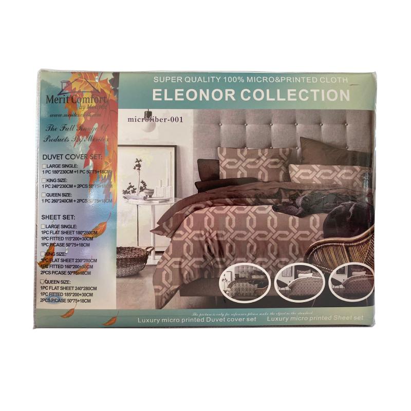Eleonor Micro 5F Bed Sheets Set