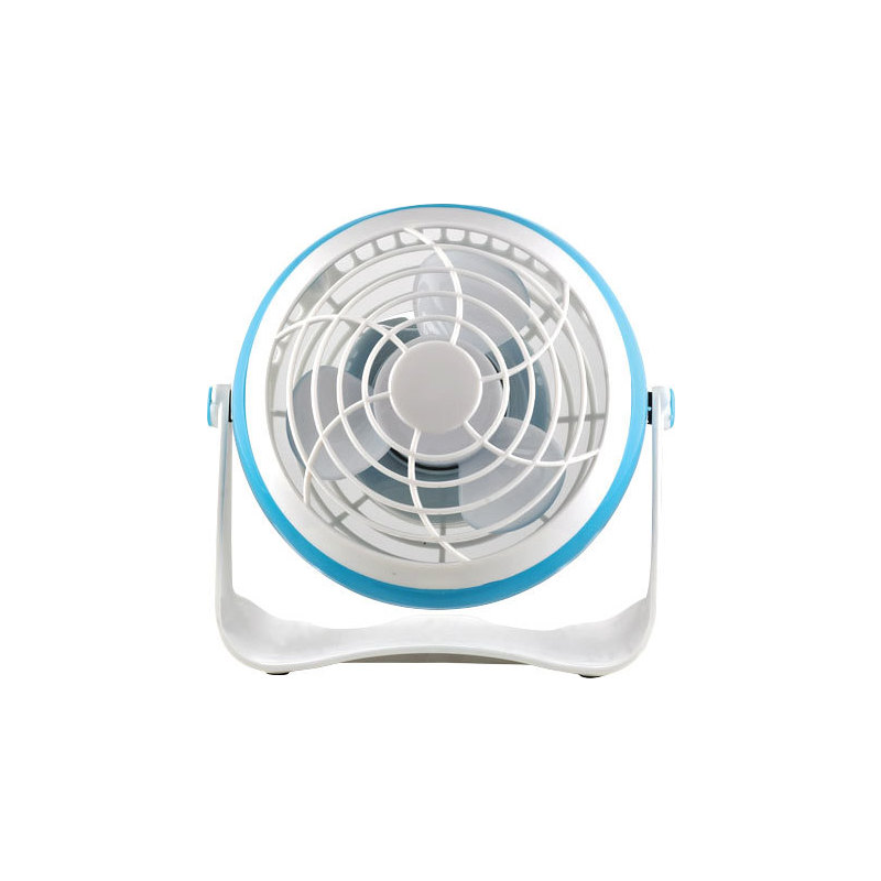 "Eurolamp Mini 4"" White Blue Desk Fan"