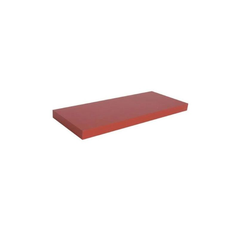 Spaceo Melamine Red 60x23.5x3.8cm Wall Mounted Shelving Unit