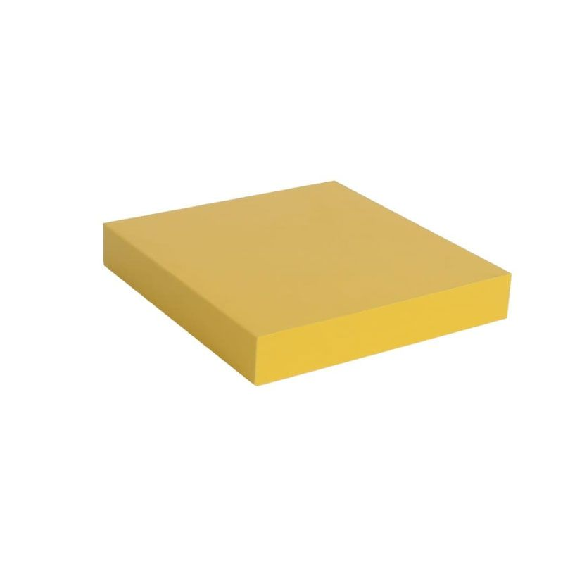 Spaceo Wood Yellow 23.5x23.5x3.8cm Wall Mounted Shelving Unit