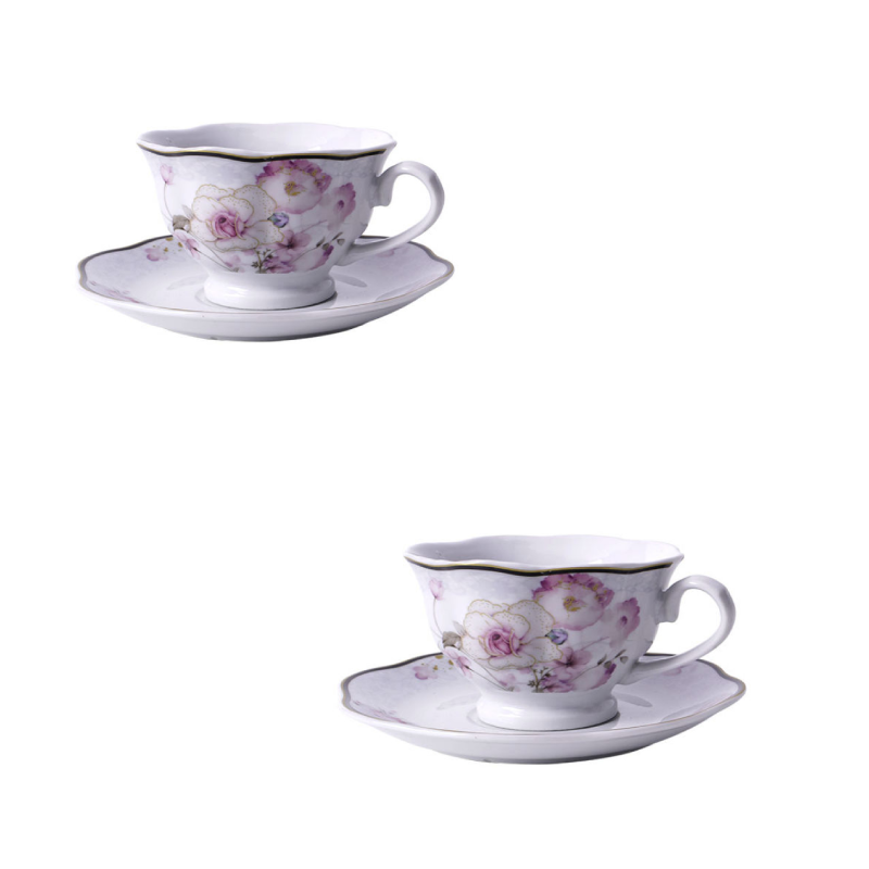 Fyliana 6pcs Set Porcelain Tea Cups 220ml