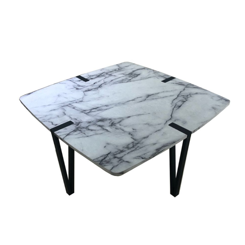 Petra 04-0293 Black / White Chipboard Melamine Carta Coffee Table