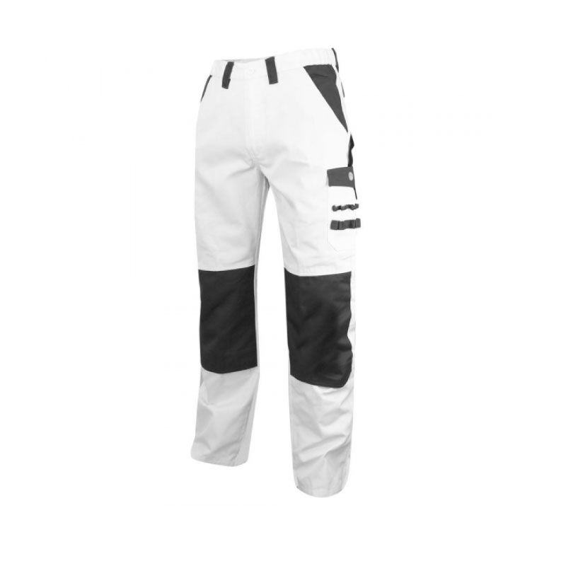 Painter's  Cotton/ Polyester White Grey Workwear Trouser - S
