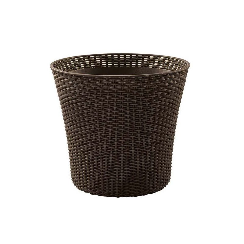 Keter Medium Brown Rattan Conic Round Flower Pot