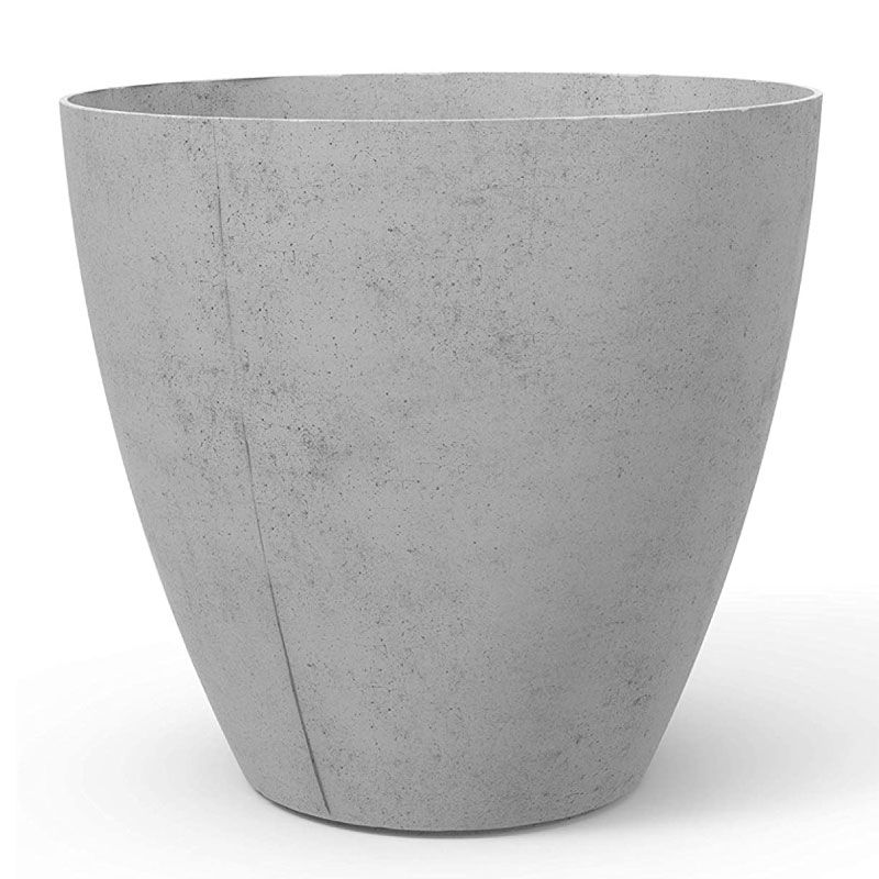 Keter Beton High Concrete Grey Conic Round Flower Pot