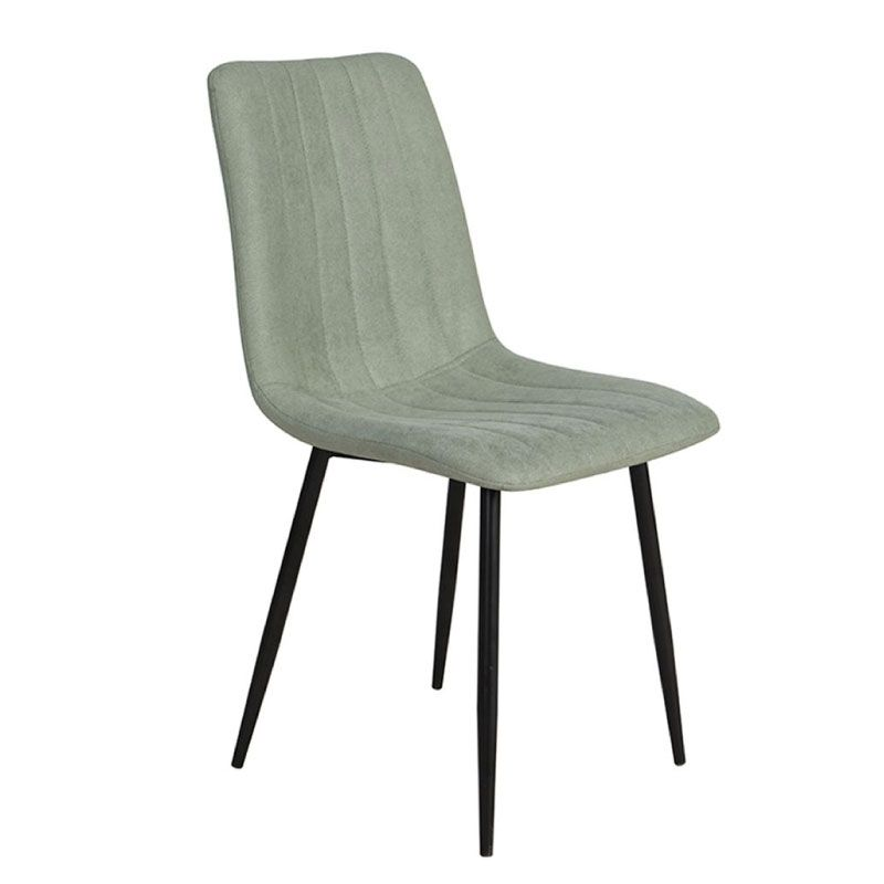 All Day 03-0635 Fabric Mint Metal Black Indoor Dining Chair