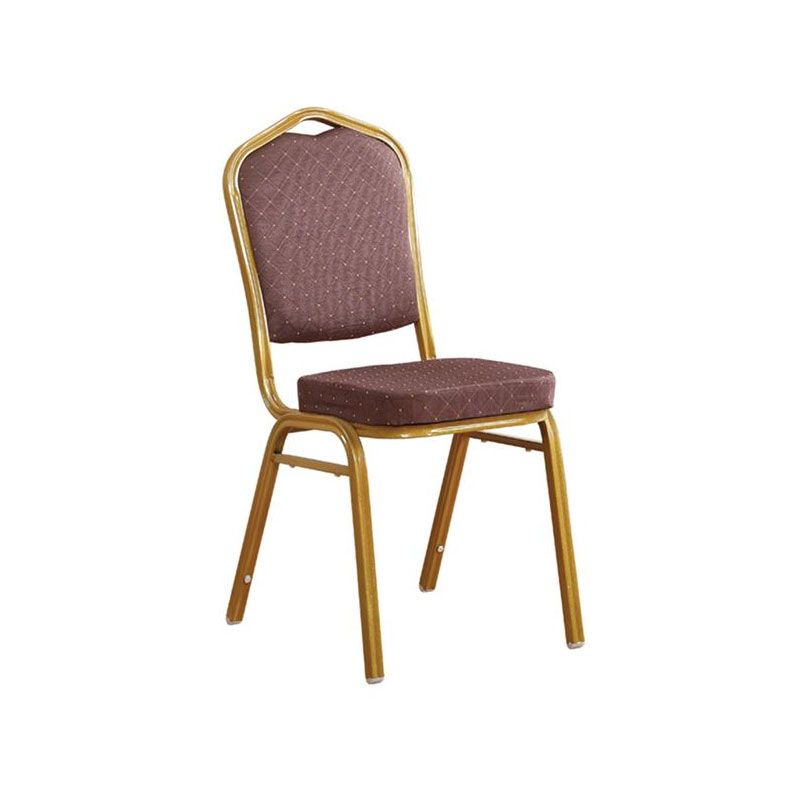 Hilton Banquet Ε-00020493 (ΕΜ513,9) Fabric Brown Metal Gold Indoor Dining Chair
